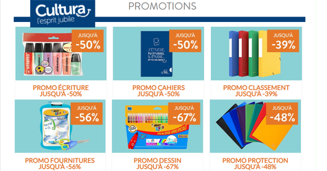 Catalogue Cultura Promotions fournitures scolaires