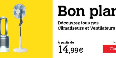 Catalogue Darty Bon Plan Climatiseurs et Ventilateurs dès 14.99€