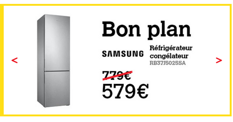 Catalogue Darty Refrigerateur SAMSUNG RB37J5025SA