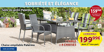 Catalogue Jysk Table de jardin Palermo
