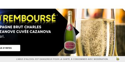 Catalogue Leader Price Champagne brut Charles de Cazanove