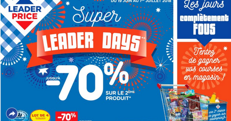 Catalogue Leader Price Super Leader Days jusqu'à -70%