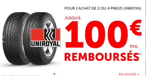 Catalogue Roady Pneus Uniroyal jusqu'à -100€