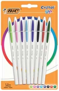 "8 STYLOS BILLE ""CRISTAL UP"" Bic"