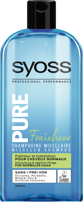 SHAMPOOING MICELLAIRE FRAICHEUR SYOSS PURE SYOSS PURE 3178041338288