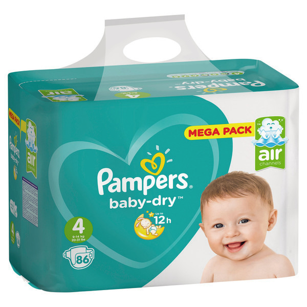 Mega pack couches Baby Dry pampers