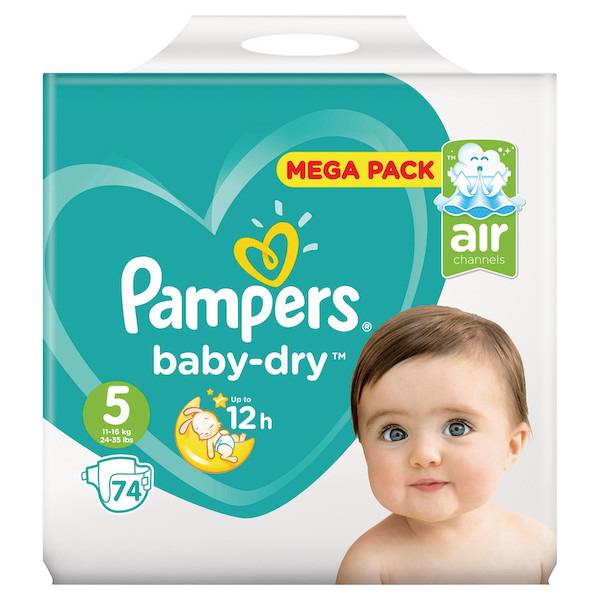 Couches Baby-dry Méga pack pampers