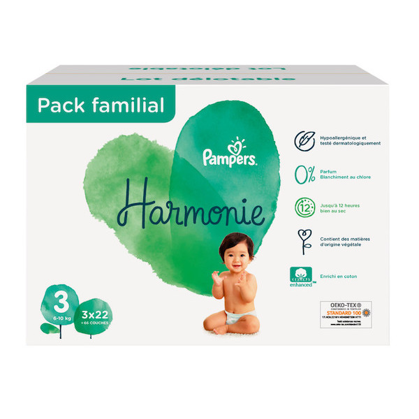 Pack Familial couches ou culottes Harmonie ou Premium Protection pampers 8001841455808